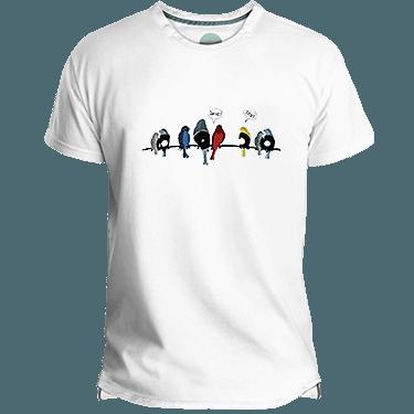 Vynil Birds Men's T-shirt image