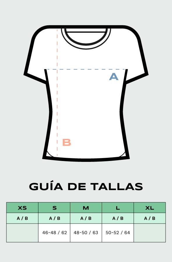 Guía de tallas camisetas mujer Lefugu