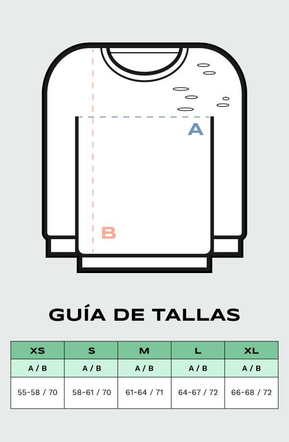 Guía de tallas sudaderas Devoré Lefugu