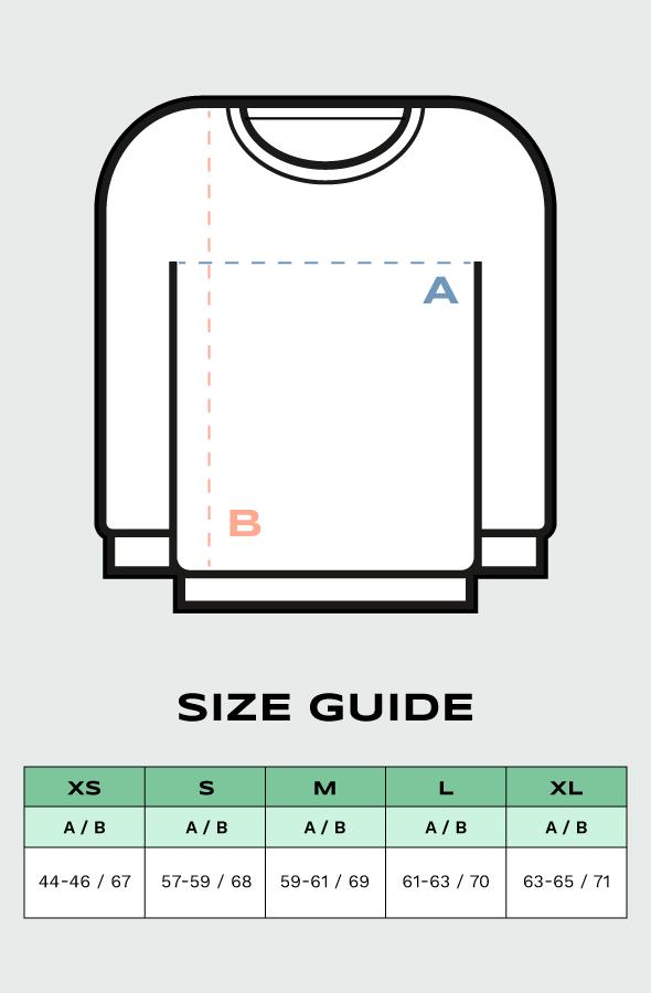 Lefugu sweatshirt sizes guide